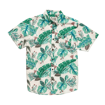 Howler Bros Mens Mansfield Shirt Third Coast Print Cream (Close Out)