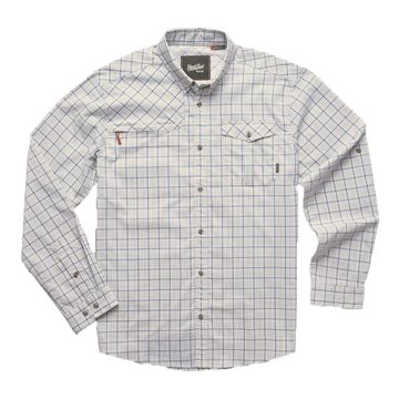 Howler Bros Mens Matagorda Longsleeve Thompson Plaid: Ivory