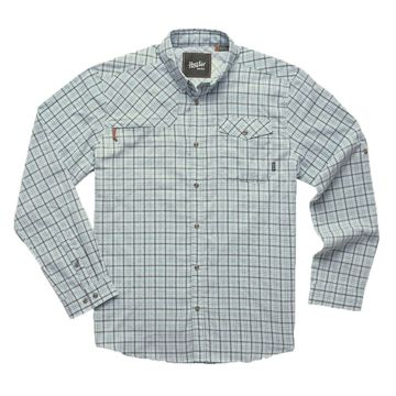 Howler Bros Mens Matagorda Longsleeve Thompson Plaid: Tropic Blue