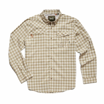 Howler Bros Mens Matagorda Shirt Peninsula Plaid: Quill Green (Close Out)
