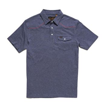 Howler Bros Mens Ranchero Polo Naval Station Heather