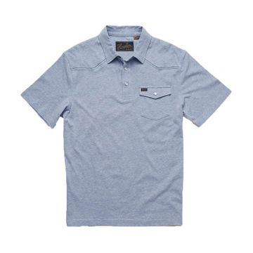 Howler Bros Mens Ranchero Polo Vintage Blue Heather