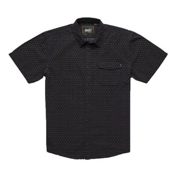 Howler Bros Mens San Gabriel Shortsleeve Zigzag Dobby: Antique Black