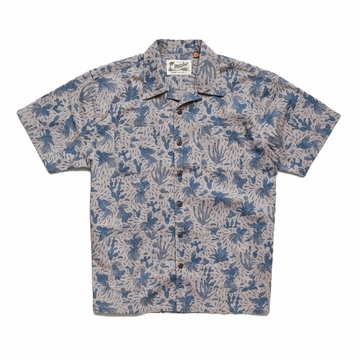 Howler Bros Mens Sunset Scout Shirt Gallos Galore: Wolf Grey (Close Out)