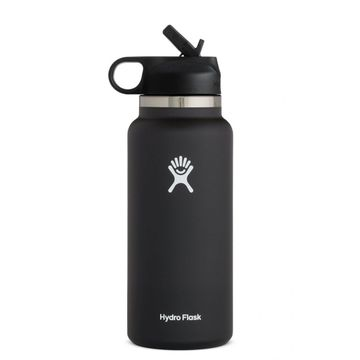 Hydro Flask 32oz Wide Mouth 2.0 Straw Lid Black