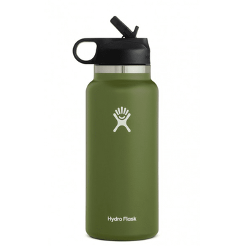Hydro Flask 32oz Wide Mouth 2.0 Straw Lid Olive