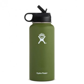Hydro Flask 32oz Wide Mouth w/ Straw Cap Olive