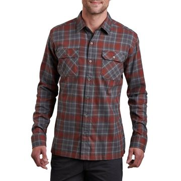 Kuhl Mens Dillingr Long Sleeve Shirt Lava Rock