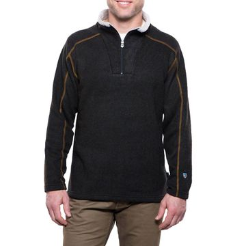 Kuhl Mens Europa 1/4 Zip Sweater Charcoal (Close Out)