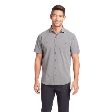 Kuhl Mens Optimizr Short Sleeve Anchor Gray