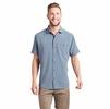Kuhl Mens Optimizr Short Sleeve Blue Gravel