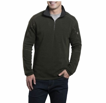 Kuhl Mens Revel 1/4 Zip Loden/ Steel