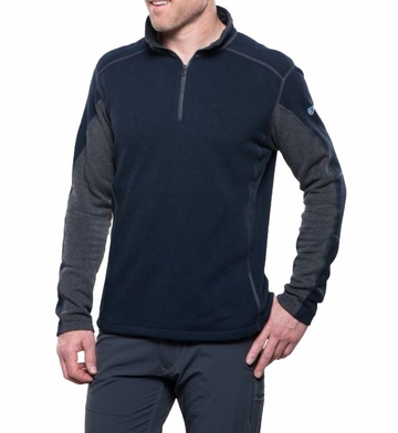 Kuhl Mens Revel 1/4 Zip Mutiny Blue/ Steel
