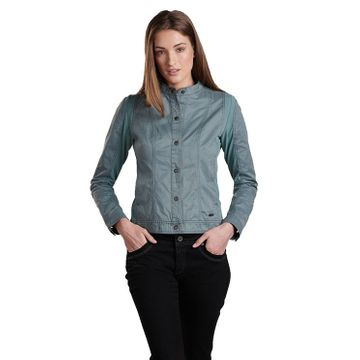 Kuhl Womens Luna Moto Jacket Mineral Blue (Close Out)