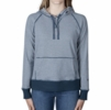Kuhl Womens Stria Pullover Hoody Metal Blue