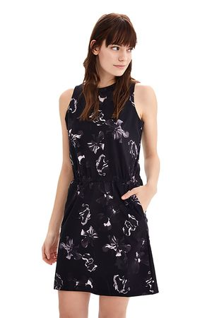 Lole Womens Paisly Dress Black Morning Glory