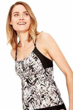 Lole Womens Paradise Tankini Black Nuuk (Close Out)