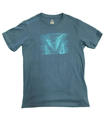 Millet Mens Gravity T Shirt Short Sleeve Majolica Blue