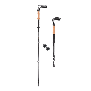 Montem Ultra Light 3K Carbon Fiber Trekking Poles Pair Black