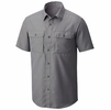 Mountain Hardwear Mens Canyon Short Sleeve Shirt Manta Grey