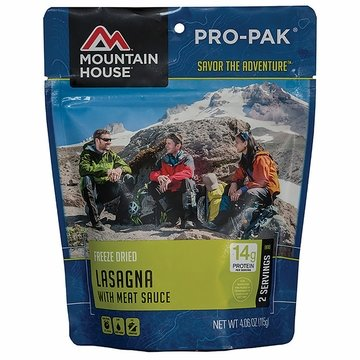 Mountain House Pro Pak Lasagna with Meat Sauce- Serves 1
