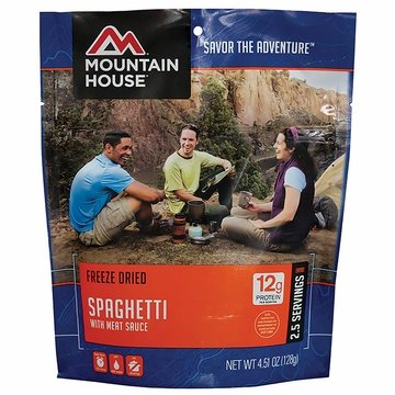 Mountain House Spaghetti with Meat Sauce- Serves 2