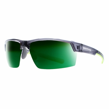 Native Catamount Dark Crystal Gray Polarized N3 Green Reflex