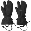 Outdoor Research Mens Highcamp 3-Finger Gloves Black