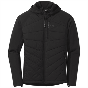 Outdoor Research Mens Refuge Hybrid Hoodie Black (Close Out)