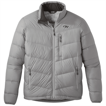 Outdoor Research Mens Transcendent Down Jacket Light Pewter (Close Out)