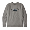 Patagonia Arched Fitz Roy Bear Uprisal Crew Sweatshirt Gravel Heather (Close Out)
