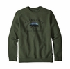 Patagonia Arched Fitz Roy Bear Uprisal Crew Sweatshirt Nomad Green