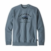 Patagonia Arched Fitz Roy Bear Uprisal Crew Sweatshirt Shadow Blue