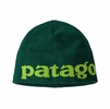 Patagonia Beanie Hat Logo Belwe: Piki Green (Close Out)