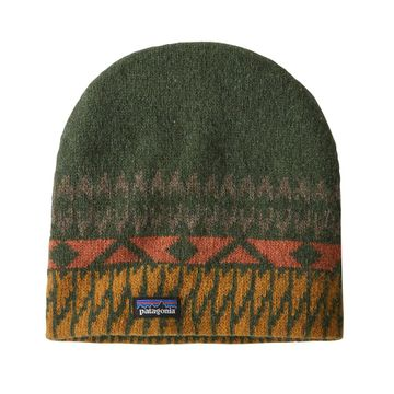 Patagonia Blackslide Beanie Folk Step: Industrial Green (Close Out)