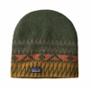 Patagonia Blackslide Beanie Folk Step: Industrial Green