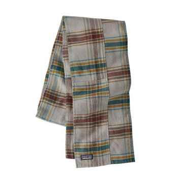 Patagonia Fjord Flannel Patchwork Scarf Defender: Feather Grey (Close Out)