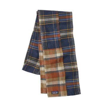 Patagonia Fjord Flannel Patchwork Scarf Defender: New Navy