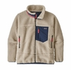 Patagonia Kids Retro-X Jacket Natural w/ Stone Blue (Close Out)