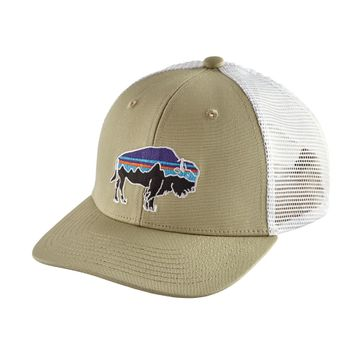 Patagonia Kids Trucker Hat Fitz Roy Bison: Weathered Stone (Close Out)