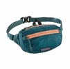 Patagonia LW Travel Mini Hip Pack Tasmanian Teal w/ Peach Sherbet (Close Out)