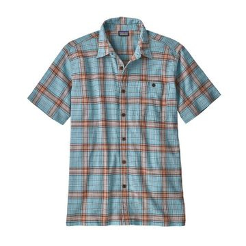 Patagonia Mens A/C Buttondown Shirt Arthur: Dam Blue (Close Out)