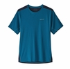 Patagonia Mens Airchaser Shirt Air Stripe: Balkan Blue