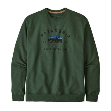 Patagonia Mens Arched Fitz Roy Bear Uprisal Crew Sweatshirt Alder Green (Close Out)