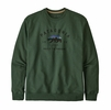 Patagonia Mens Arched Fitz Roy Bear Uprisal Crew Sweatshirt Alder Green