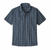 Patagonia Mens Back Step Shirt Founder: Stone Blue