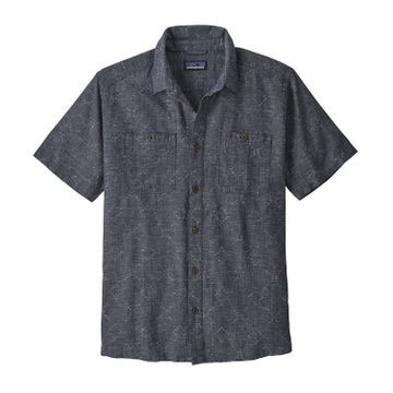 Patagonia Mens Back Step Shirt Goshawk Dobby: New Navy