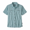Patagonia Mens Back Step Shirt Harvester: Big Sky Blue