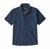 Patagonia Mens Back Step Shirt Tiger Micro: Stone Blue