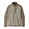 Patagonia Mens Better Sweater 1/4 Zip Bleached Stone w/ Pale Khaki